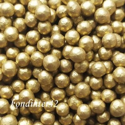 """Шарики перламутровые """"Золото"""" 3-4 мм, 20 гр."""