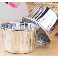 Капсулы для кексов Серебро 10шт