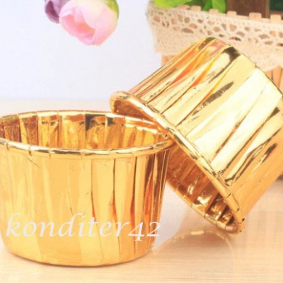 Капсулы для кексов Золото 10шт