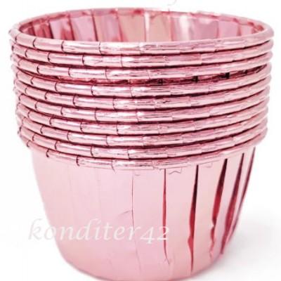 Капсулы для кексов Розовые 10шт