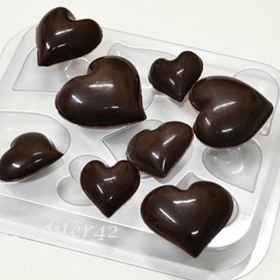 """Форма для шоколада """"Шоко-сердечки"""""""