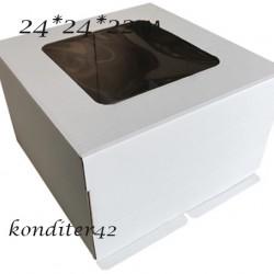 Коробка для торта 240*240*220.с окном