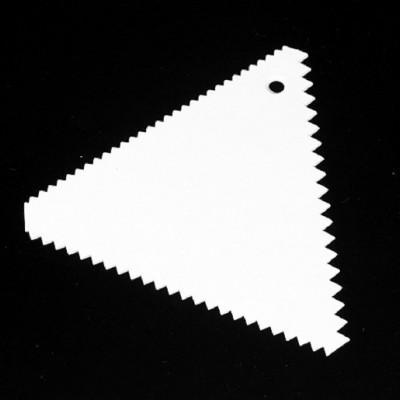 Скребок кондитерский треугольный зубчатый