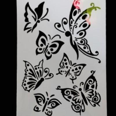 """Трафарет """" Бабочки"""""""