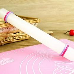 Скалка гладкая для мастики с ограничителями