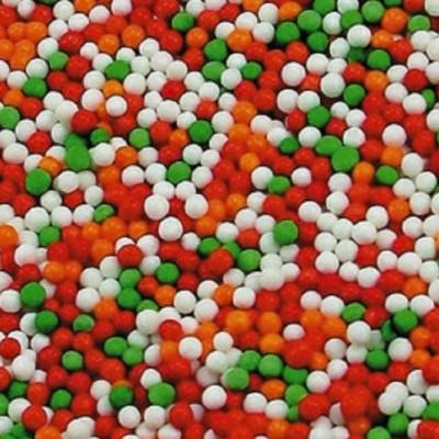 """Посыпка """" Шарики микс красный белый оранжевый зеленый"""". 50 гр"""