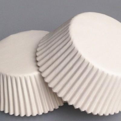 Капсулы бумажнык для капкейков белые 20 шт