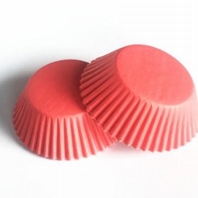 Капсулы бумажнык для капкейков Красно-розовые 20 шт