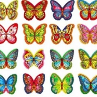 Вафельные бабочки микс -10 шт