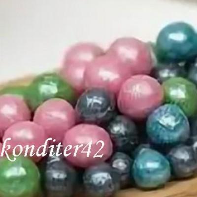 """Драже рисовое """" Жемчуг"""" ,в глазури,  бирюза/зеленый/розовый/черный , 7 мм, 80гр."""