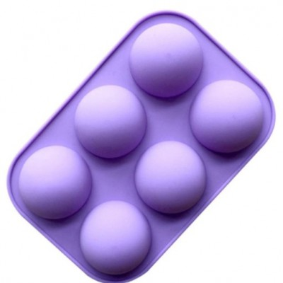 """Силиконовая форма """" Полусфера """" 6 полусфер для шоколада и изомальта."""