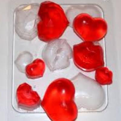"""Пластиковая форма """" Сердечки поцелуйчики """""""