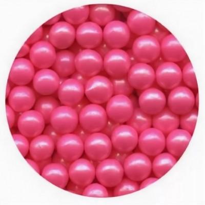 Шарики перламутровые розовые 8 мм 10 гр