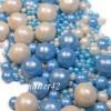 """Драже рисовое """" Жемчуг"""" бело-голубой, в глазури, микс, 90 гр."""